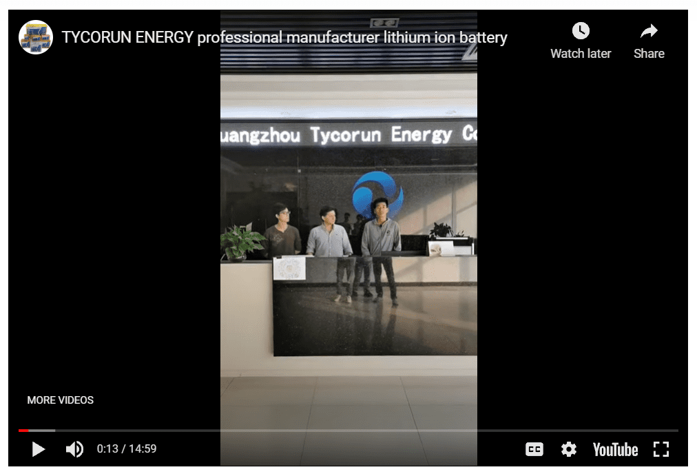 March 16th, 2021 Live Broadcasting of TYCORUN Energy Factory tour
