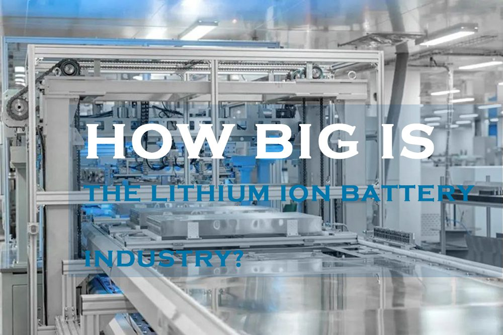 How big is the lithium ion battery industry
