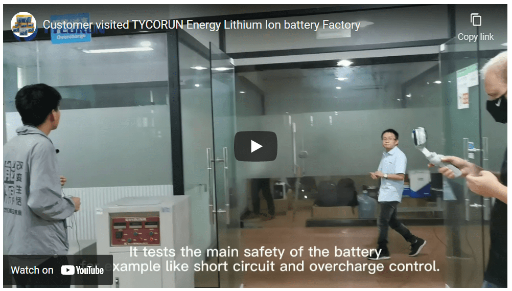 TYCORUN Energy is a professional lithium ion battery Manufacturer in China