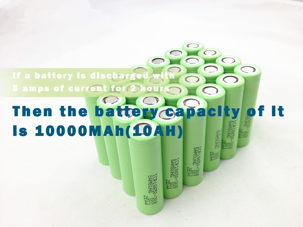 If a battery is discharged with 5 amps of current for 2 hours, then the battery capacity of it is 10000MAh(10AH)