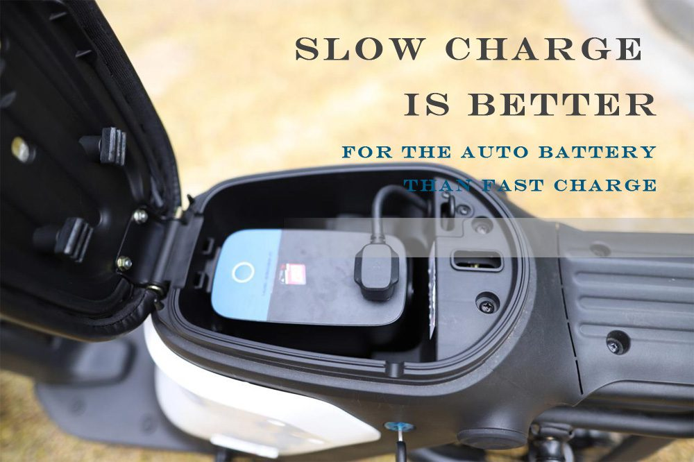 Slow charge is better for the auto battery than fast charge